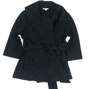 Calvin Klein Large Black Jacket Coat Dressy Collar